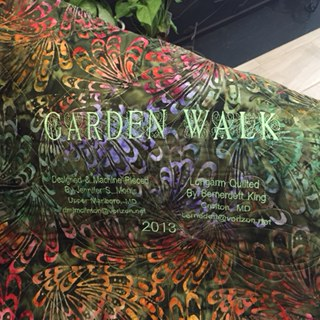 Garden Walk label