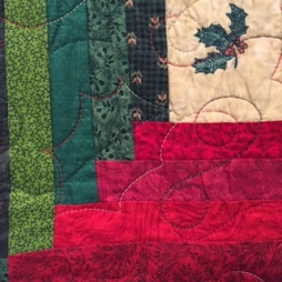 Log Cabin Christmas quilting 1
