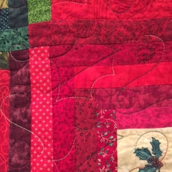 Log Cabin Christmas quilting 2