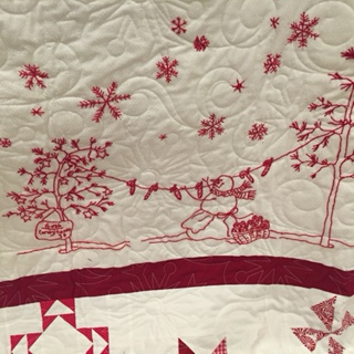 Winter Wonderland quilted candy canes