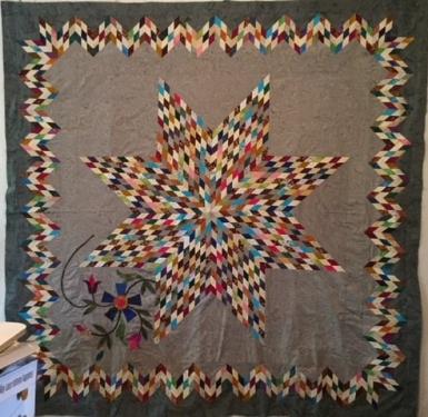 Edyta Sitar Lymone Star quilt top