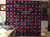 Patriotic Log Cabin quilt